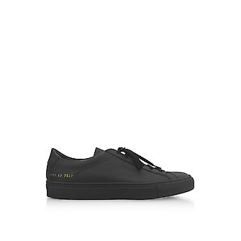 Common projects men's 21017547 black leather of sneakers