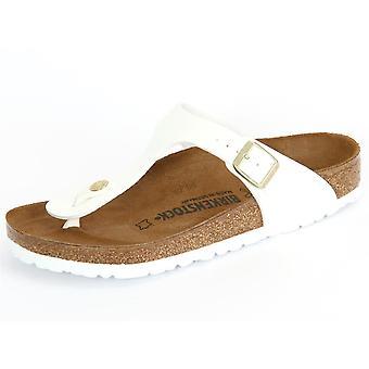 Birkenstock Gizeh White Patent Birko Flor 1005299   women shoes