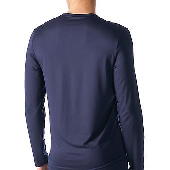Mey 65640-668 Men's Jefferson Blue Solid Colour Pajama Pyjama Top