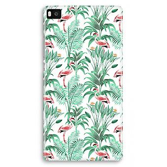 Huawei Ascend P8 Full Print Case - Flamingo leaves