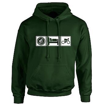 Eten slaap cyclus Sport Unisex Hoodie 10 kleuren (S-5XL) door swagwear