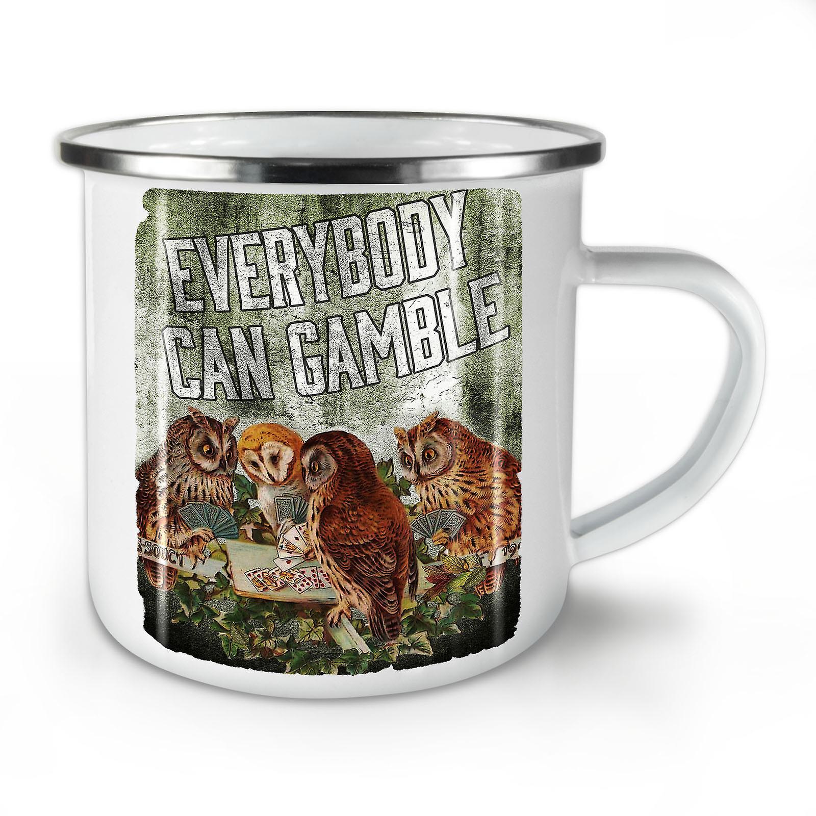 Poker Whitetea Mug10 Owl Coffee Enamel OzWellcoda Gamble New bgIf7Y6yv