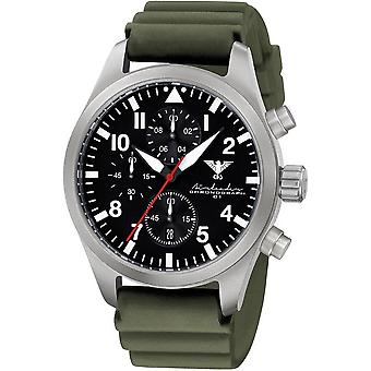 KHS mens watch Airleader Steel Chronograph KHS. AIRSC. DO