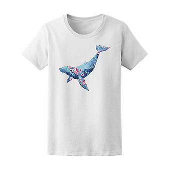 Floral And Sea Style Whale  Tee Women's -Image by Shutterstock
