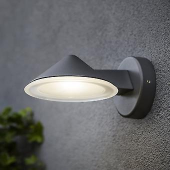 LuTec cono 12W la pared Exterior del LED abajo luz en grafito