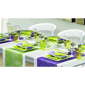 Party Geschirr Set für 8 Gäste 120-teilig Partypaket weiss limettengrün Partypaket