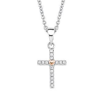 s.Oliver jewel children and teens necklace-silver cubic zirconia cross 2018528