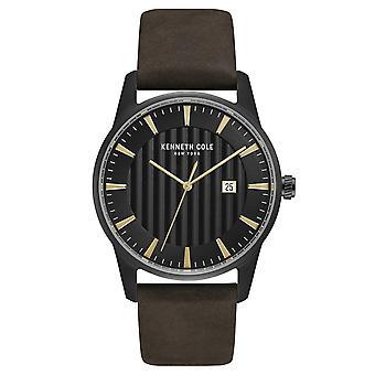 Kenneth Cole New York mannen pols horloge analoog kwarts leder KC15204003