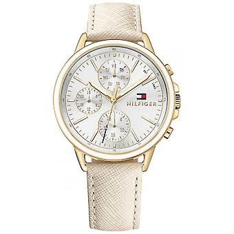 Tommy Hilfiger Women's Carly White Leather Strap White Dial 1781790 Watch