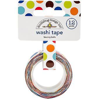 Doodlebug Washi Tape 15mmX12yd-Bouncy Balls