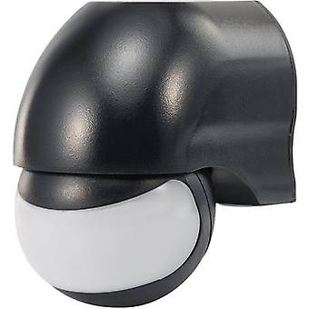 Surface-mount PIR motion detector Renkforce 160 ° Relay Black IP44
