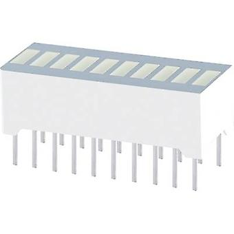 LED bargraph array 10x Red (L x W x H) 25.4 x 10.16 x 12 mm Kingbright RBG 1000