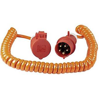 as - Schwabe 70416 Current Cable extension Orange, Red 5 m Spiral cable