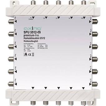 Axing SPU 5512-09 SAT cascade multiswitch Inputs (multiswitches): 5 (4 SAT/1 terrestrial) No. of participants: 12