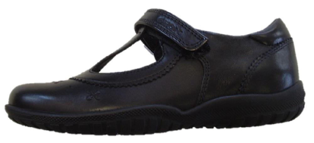 Geox Girls Shadow T-bar School scarpe nero | Varietà Grande  | Uomini/Donne Scarpa
