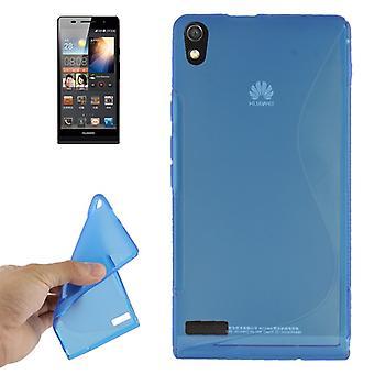 Handyhülle TPU-Schutzhülle für Huawei Ascend P6 blau