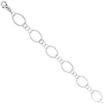 Necklace chain 925 sterling silver 80 cm silver chain carabiner