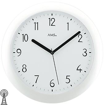 Radio controlled wall clock radio controlled wall clock wall clock radio white plastic housing