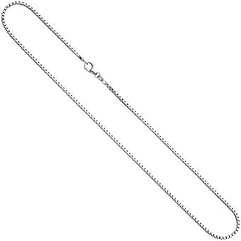 Venetian chain 925 Silver 1.8 mm 70 cm necklace chain silver chain carabiner