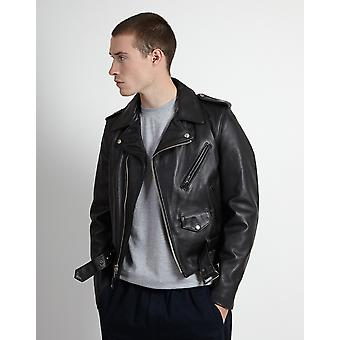 Schott NYC 613 Made in USA Perfecto Jacket Black