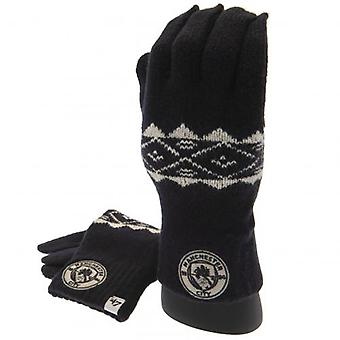 Manchester City Knitted Gloves Adult Fairisle