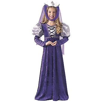Renaissance Queen Medieval Maiden Lady Guinevere Book Week Girls Costume