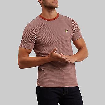 Lyle & Scott Feeder Stripe T-Shirt Brown Spice