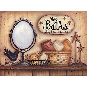 Chaud de bains Poster Print par Mary Ann juin (12 x 9)