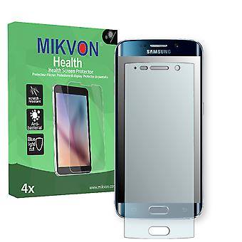 Samsung Galaxy S6 Edge Screen Protector - Mikvon Health (Retail Package with accessories) (intentionally smaller than the display due to its curved surface)