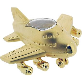 Gift Time Products Jumbo Jet Style Miniature Clock - Gold