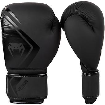 Venum Contender 2.0 Hook and Loop Training Boxing Gloves - Black/Black