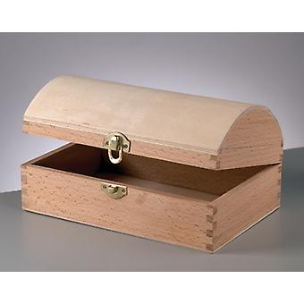 Wood Chest with Clasp to Decorate 25x13x9.5cm   Pirate Treasure Chests