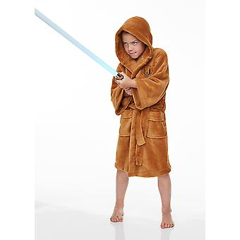 Official Star Wars Jedi Childrens Hooded Dressing Gown / Bathrobe