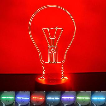 Light Bulb Colour Changing LED Acrylic Light