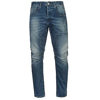 Jack and Jones Mens Stan Osaka Jeans Pants Trousers Bottoms Distressed Denim