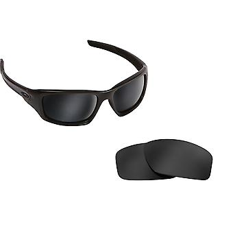 VALVE Replacement Lenses Polarized Black Iridium by SEEK fits OAKLEY Sunglasses