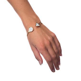 Armbånd hvid marmor-lille cirkel