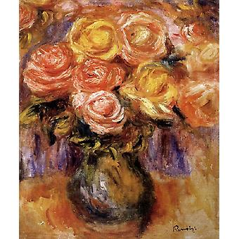 Vase of Roses, Pierre Renoir, 37 x 31.5 cm