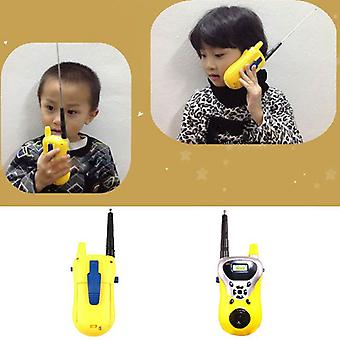 2 PCs/party Intercom Electronic Walkie Talkies toys Children portable two-way Radio Mini Cartoon toy Interphone Clectronic Came