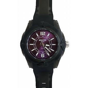 Waooh - Montre MIAMI 44 Bracelet Noir Cadran Couleur