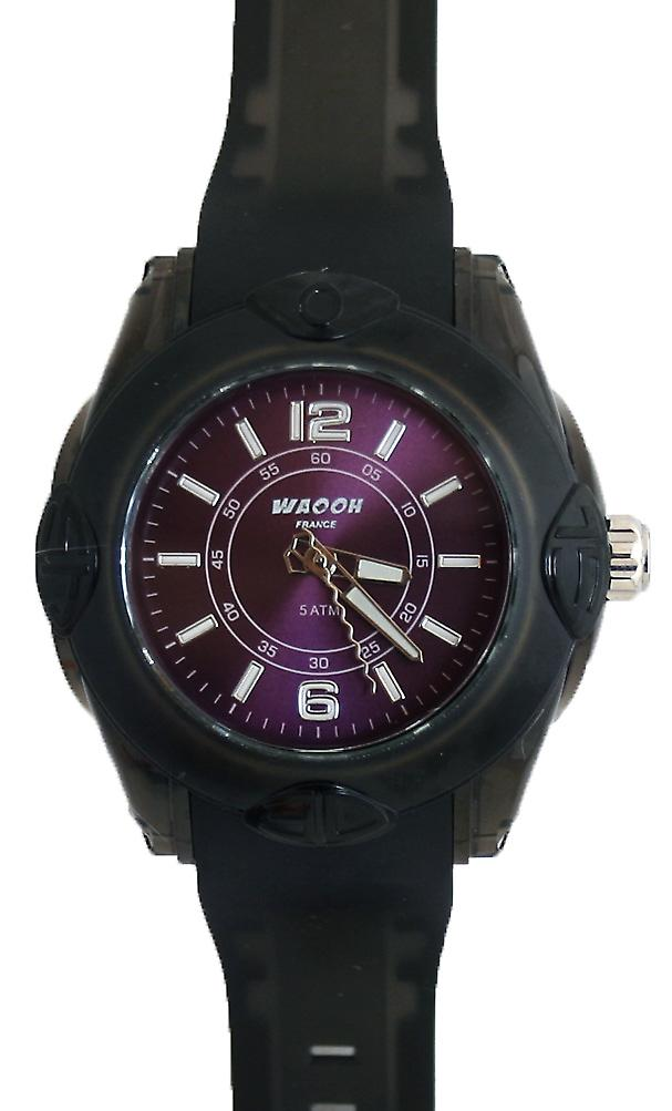 Waooh - MIAMI Watch Bracelet Black Dial 44 Color