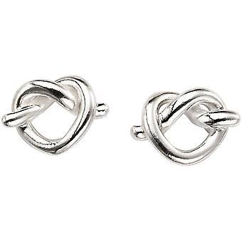 Beginnings Pretzel Stud Earrings - Silver