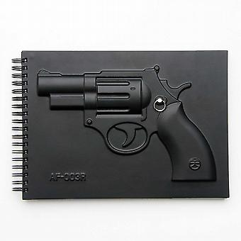 Revolver Notebook - Black Fight Series