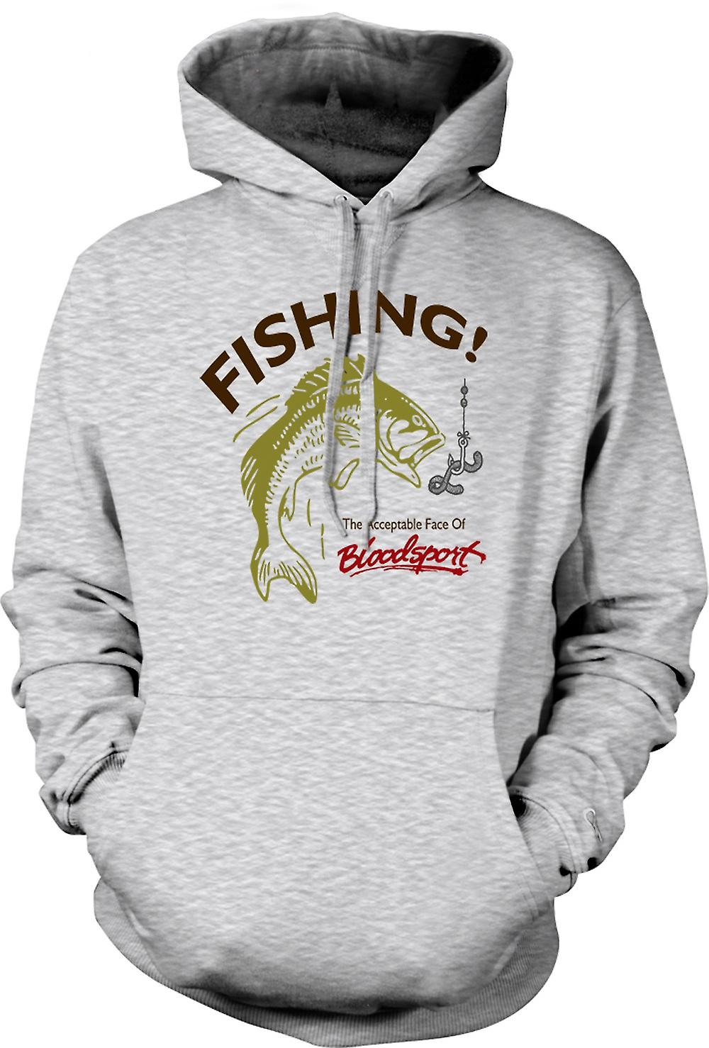 Mens Hoodie - Fishing Acceptable Bloodsport - Funny
