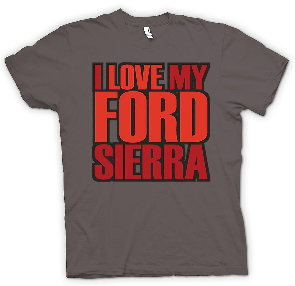 Womens T-shirt - I Love My Ford Sierra - Car Enthusiast