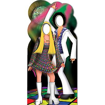 Disco Couple Stand- In - Lifesize Cardboard Cutout / Standee