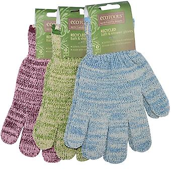 Eco Tools Recycled Bath And Shower Gloves Lime
