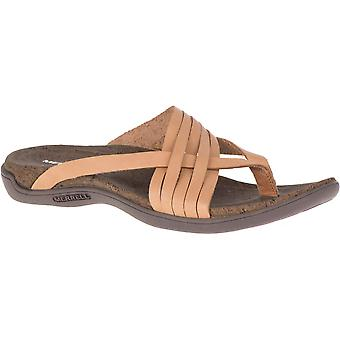 Merrell Womens District Mahana Toe Post Leather Sandals