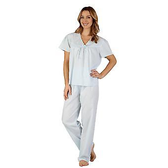 Slenderella PJ3203 Women's Woven Pajama Pyjama Set