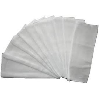 Muslins Squares White Washable Up to 95 Deg. C 60 X 80 Cm Pack of 10 100% Cotton